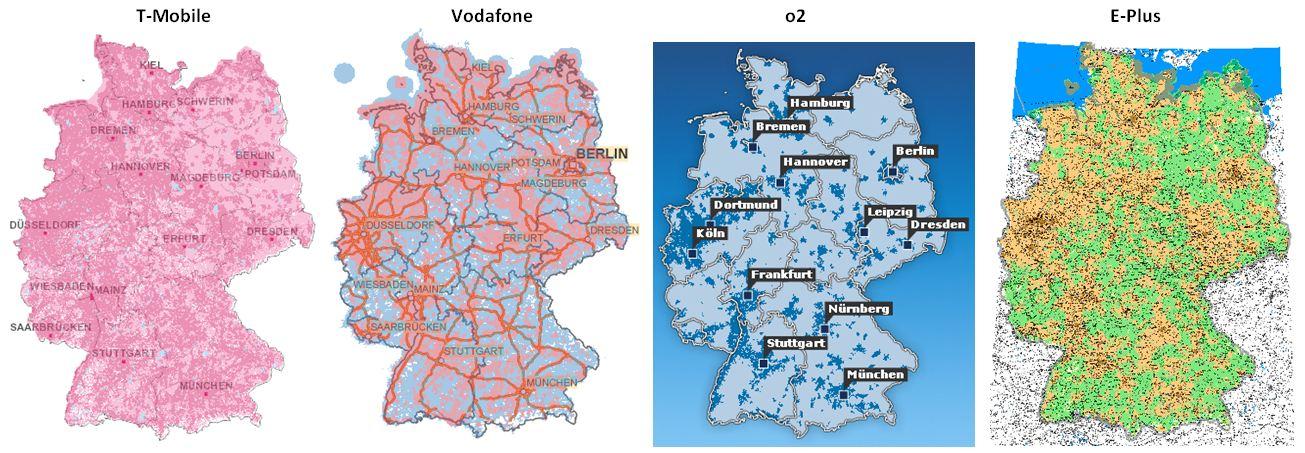 UMTS Netzabdeckung – Fachinfos! » UMTS in den Städten und auf dem ...