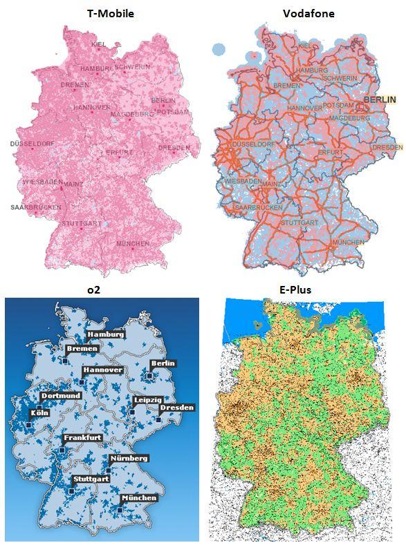 3g karte deutschland UMTS Netzabdeckung – Fachinfos! Gute UMTS Netzabdeckung in